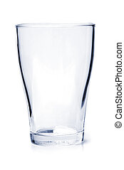 Empty drinking glass - Single empty drinking glass isolated...