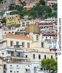 Church Of Santa Maria Assunta in Positano, Amalfi coast,...