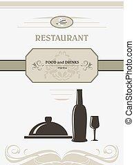 Restaurant menu. Title page