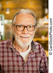Happy senior man portrait - Portrait of a happy senior man...