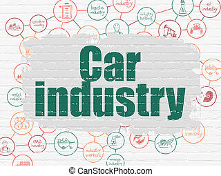 Manufacuring concept: Car Industry on wall background