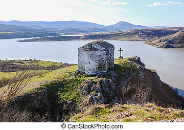"Medieval chapel on the Pchelina dam, Bulgaria - ""Saint John..."