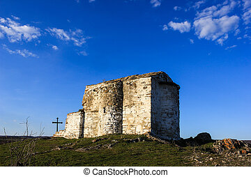 Medieval chapel on the Pchelina dam, Bulgaria - Saint John...
