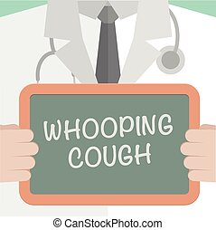 Whooping Cough - minimalistic illustration of a doctor...