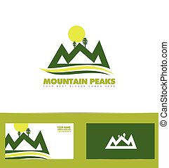 Green mountain logo - Vector company logo icon element...