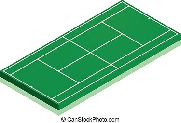 Tennis Court - detailed illustration of a tennis court with...