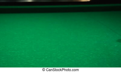 White balls on the baize - Russian billiards, board game on...