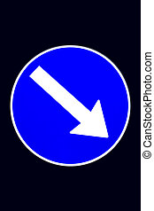 Directional traffic sign - Real picture of a shining...