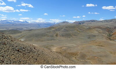 Landscape in the Altai Mountains (Mars valley) - Landscape...