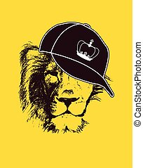 Yes your majesty. Grunge vector illustration - lion head....