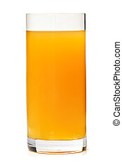 Apple juice in glass - Apple juice in clear glass isolated...
