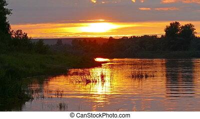 river sunset landscape