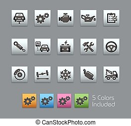 Car Service Icons -- Satinbox Serie - The Vector file...