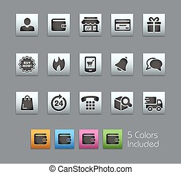 e-Shop Icons -- Satinbox Series - The Vector file includes 5...