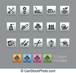 Gardening Icons -- Satinbox Series - The Vector file...