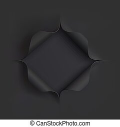 Hole in black paper.
