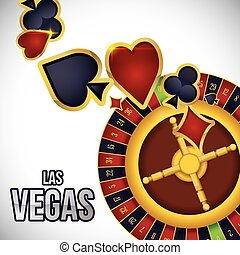 Las Vegas design - Las Vegas concept with casino icons...