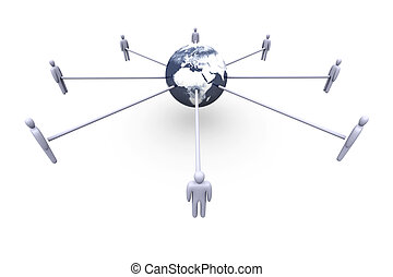 Connected Team - 3D rendered Illustration. Power of...