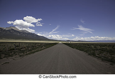 Dirt Road in the Sangre De Cristo Mountains - A dirt road in...