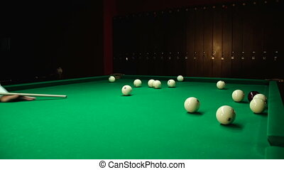 Strike the cue ball for