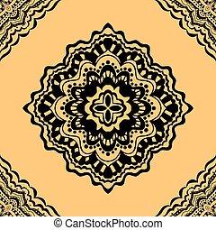 seamless yellow pattern. - Vector seamless yellow pattern....