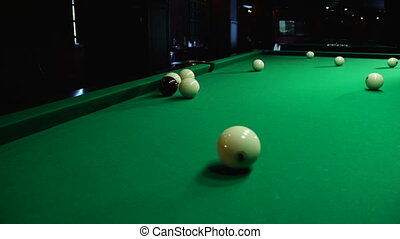 The game of billiards - Russian billiards, board game on a...