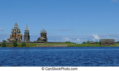 russian wooden architecture on Kizhi