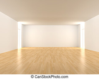 Empty Room - 3D rendered Interior. An empty room.