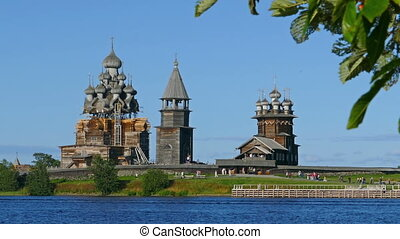 russian wooden architecture on Kizhi in Karelia - old...