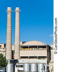 Factory - These are a silos of a Monopoli factory , an...
