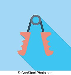 Hand expander icon. Flat vector related icon with long...