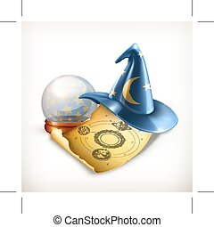 Magician hat, vector illustration - Magician hat,...