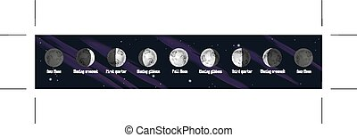Phases of Moon illustration