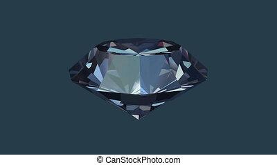 Diamond rotate in seamless loop