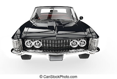 Classic American Car Front View