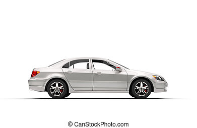 White Business Car Left Side View