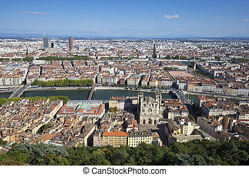 Aerial view of Lyon