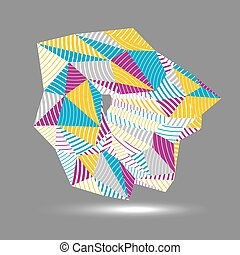 3D vector abstract technology illustration, geometric...