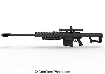 Sniper Rifle Side View
