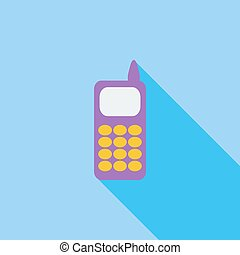 Phone single icon. - Phone icon. Flat vector related icon...