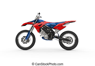 Dirt Bike Red Side