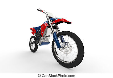 Dirt Bike Red Closeup Front Tire