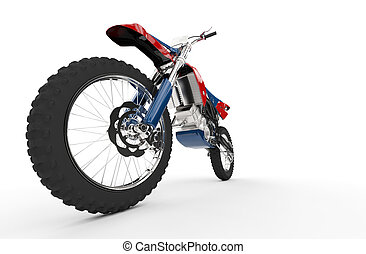 Dirt Bike Red Front Wheel