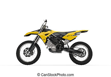 Yellow Dirt Bike Side View