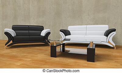 Contemporary Living Room Concrete