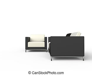 Contrast Set Of Furniture