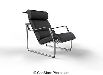 Modern Armchair - leather