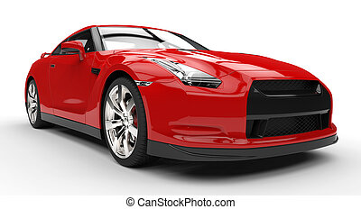 Red Sports Car Power Photo