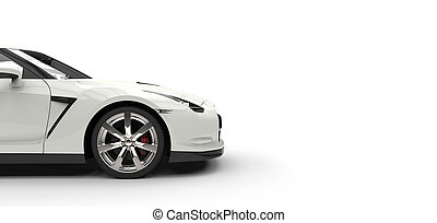 White Sports Car Side