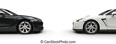 Black & White Cars Side By Side